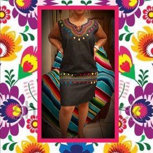 Dresses & Skirts - NEW💃🏻Dress✨Unique🌵Jean🌶Authentic